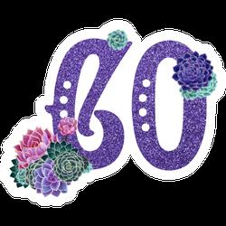 Purple Sparkle Flower Colorado Sticker