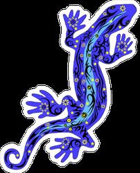 Purple Textured Lizard Sticker