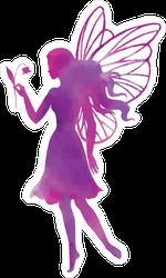 Purple Watercolor Fairy Sticker
