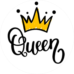 Queen Crown Vector Calligraphy Sticker