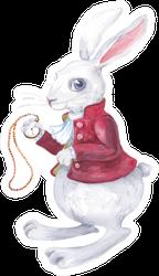 Rabbit From Alice In Wonderland Watercolor Sticker