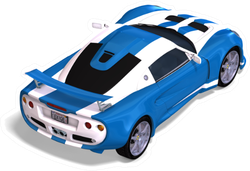 Racing Car Fantasy Type With Clipping Path Sticker