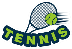 Racket Tennis And Ball Logo Sticker