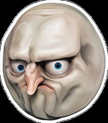 Rage Face Illustration Sticker