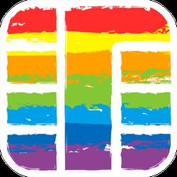 Rainbow Credit Card Chip Sticker