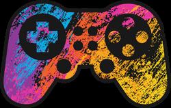 Rainbow Grunge Game Controller Sticker