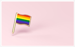 Rainbow Lgbtq Pink Flag Sticker