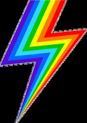 Rainbow Lightning Sticker