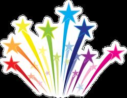 Rainbow of Shooting Stars Sticker