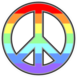 Rainbow Peace Sign Sticker