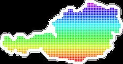 Rainbow Pixel Austria Map Sticker