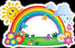 Rainbow Seasonal Sticker
