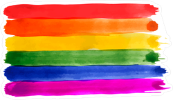 Rainbow Watercolor Flag Sticker