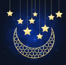 Ramadan Crescent Moon Sticker