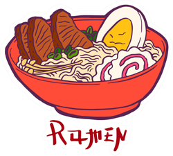 Ramen Soup With Noodles Sticker