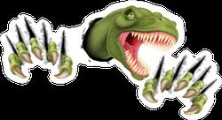 Raptor Ripping Through Sticker
