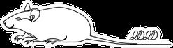 Rat Continuous Line 2020 Sticker