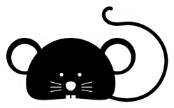 Rat Head Icon Sticker