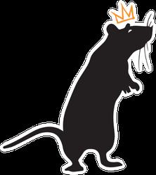 Rat With Crown Sticker