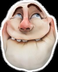 Realistic Ahhh Smiling Troll Face Meme Sticker