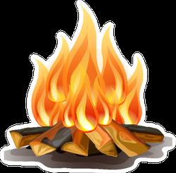 Realistic Campfire Sticker