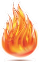 Realistic Fireball Sticker