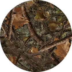 Realistic Forest Camouflage Seamless Pattern Hunting Sticker