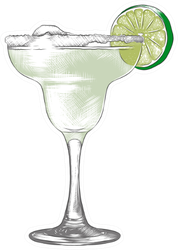 Realistic Frozen Margarita Cocktail Sticker