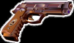 Realistic Hand Gun Sticker