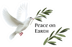 Realistic Illustration Of White Dove Of Peace Flying Sticker