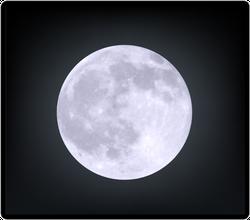 Realistic Moon Sticker