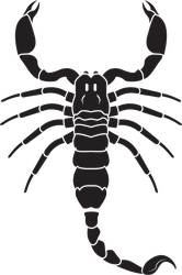 Realistic Scorpion Shaped Sticker
