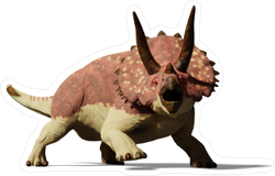 Realistic Triceratops Sticker