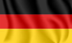 Realistic Waving Flag Of Germany Sticker