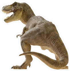 Rear View of Dinosaur Sticker