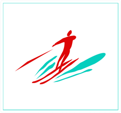 Recreation And Sports High-speed Water Skiing Square Sticker