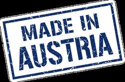 Rectangle Made In Austria Stamp Sticker