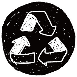 Recycle Chalk Doodle Sticker