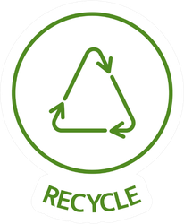 Recycle Line Art Icon Lettering Sticker