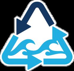 Recycle Ocean Logo Sticker