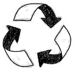 Recycle Symbol Doodle Sticker