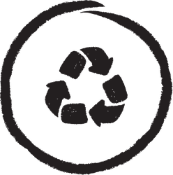 Recycle Symbol. Hand Drawn And Brush Style Sticker