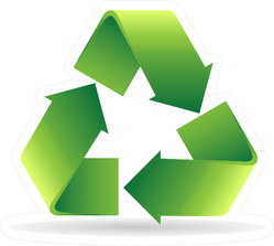 Recycle Symbol Icon In Color Sticker