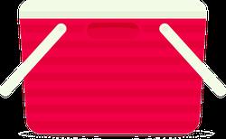 Red Beach Cooler Sticker