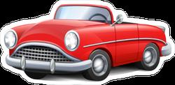 Red Cartoon Convertible Car Sticker