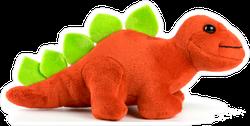 Red Dinosaur Plush Toy Sticker