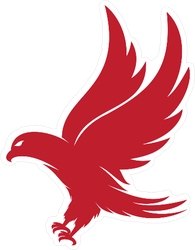 Red Eagle Logo Style Sticker