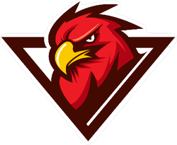 Red Eagle Mascot Sticker