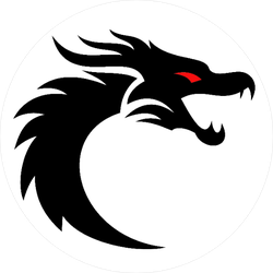 Red Eye Dragon Circle Sticker