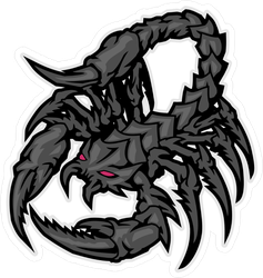 Red Eyed Black Scorpion Monster Sticker
